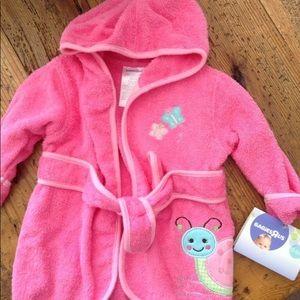 Baby Bathrobe & Booties - Brand NEW